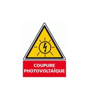 ETIQUETTE COUPURE PHOTOVOLTAIQUE