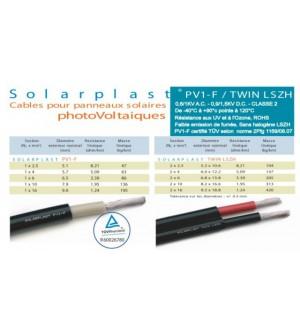 Câble solaire 4mm² TUV 1000V Lg 30M